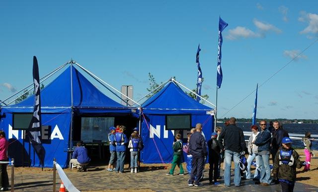 Alpha Vision technicznie obsługiwała event NIVEA nad Zegrzem - czerwiec 2007.