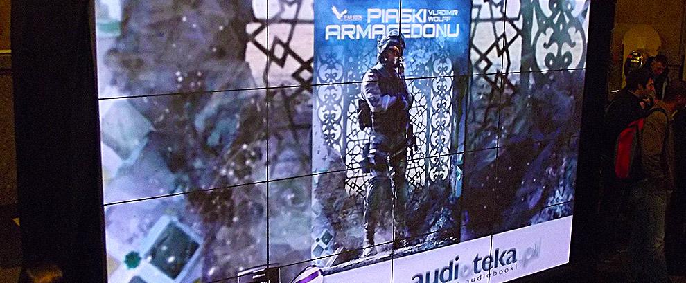 Ekran bezszwowy na Warszawskich Targach Książki